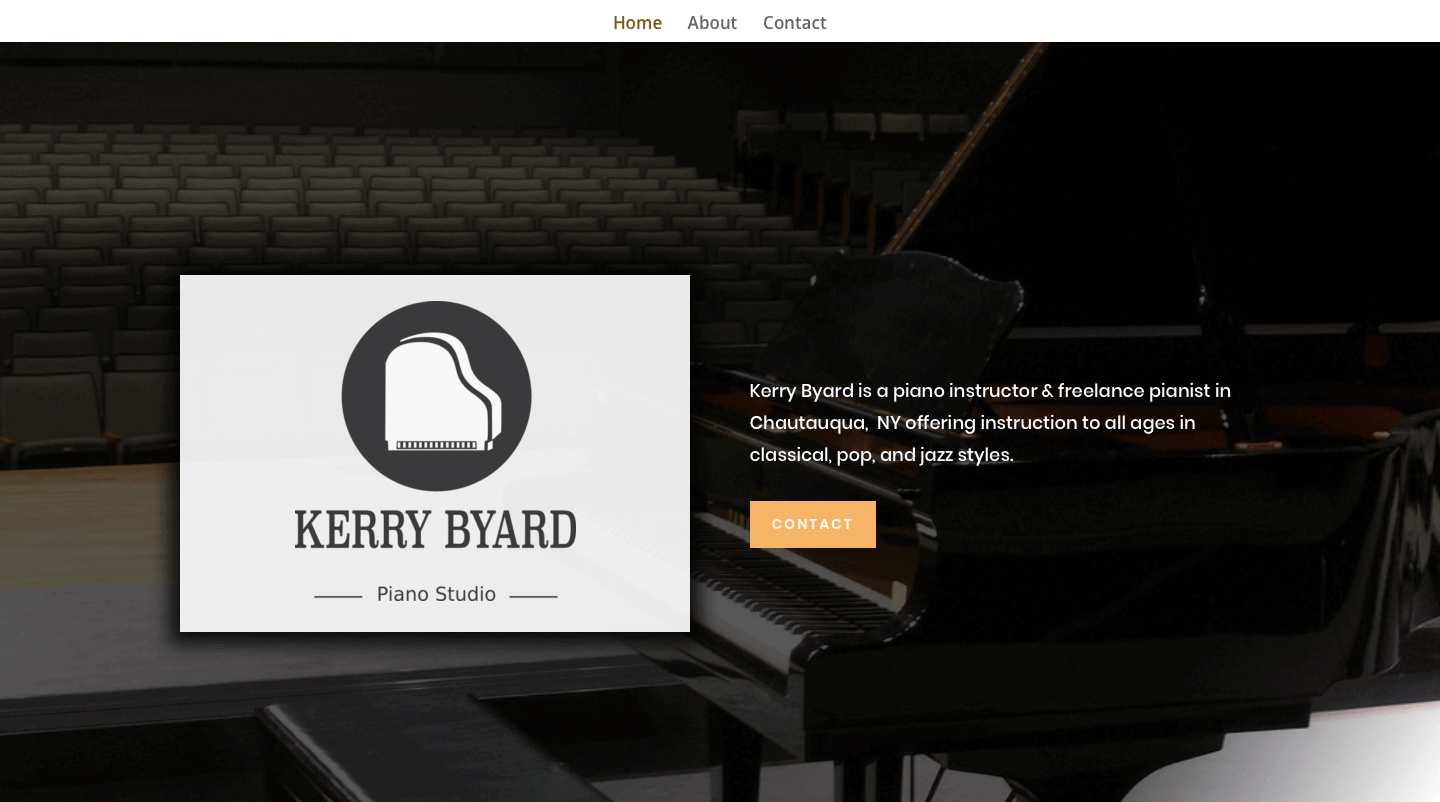 Kerry Byard Piano Studio Website Screenshot