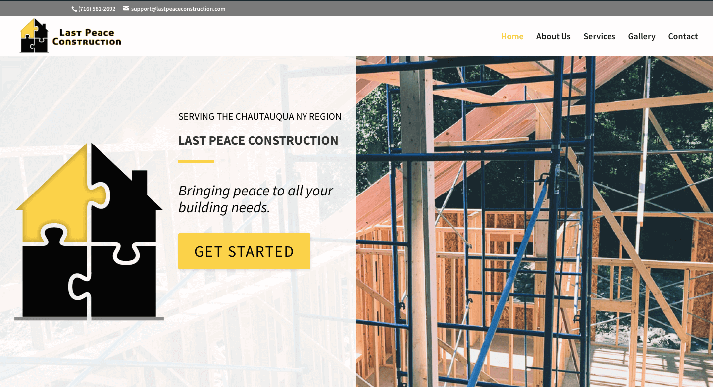 Last Peace Construction  Website Screenshot